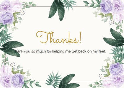 thankyou card 20 floraldesign graphics