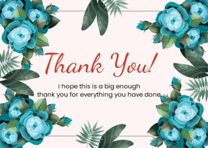 thankyou card 21 floraldesign graphics