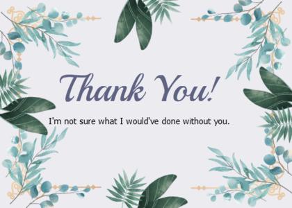 thankyou card 24 pottedplant plant