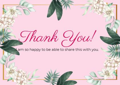 thankyou card 26 plant petal