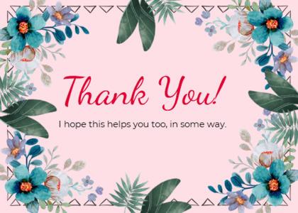 thankyou card 27 floraldesign graphics