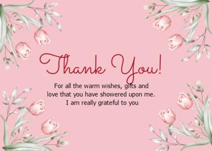 thankyou card 43 plant text