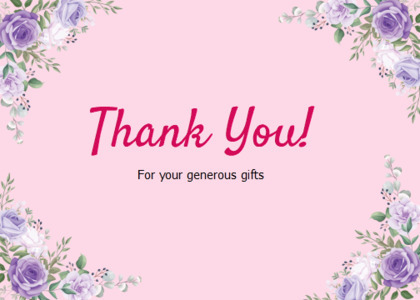 thankyou card 44 floraldesign graphics