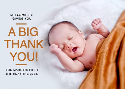 thankyou card 5 person newborn