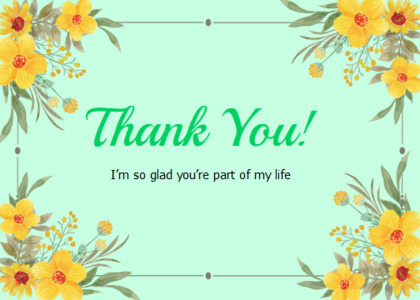 thankyou card 50 floraldesign graphics