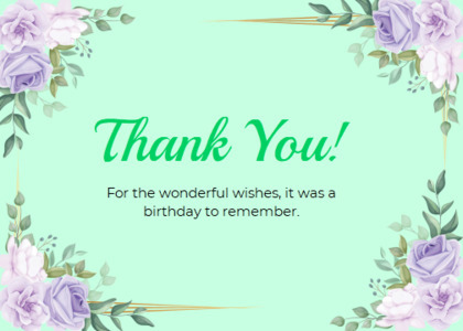 thankyou card 54 floraldesign pattern