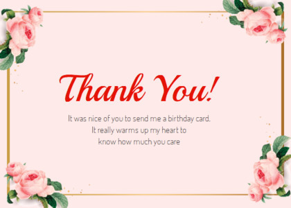 thankyou card 55 envelope mail