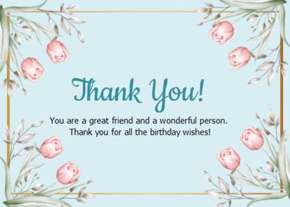 thankyou card 63 text flower