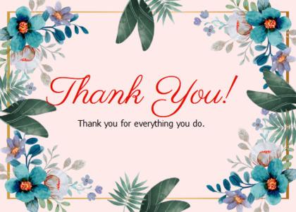 thankyou card 64 floraldesign graphics