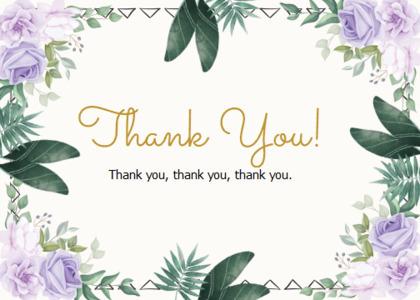 thankyou card 65 floraldesign graphics