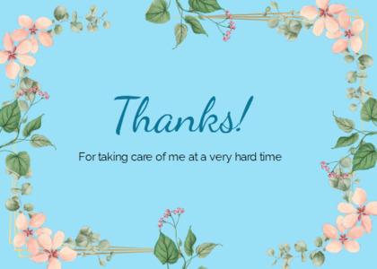 thankyou card 67 text flower