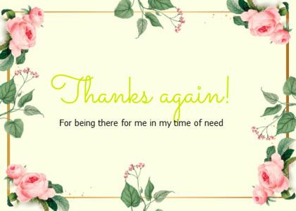 thankyou card 69 text plant