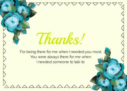 thankyou card 70 envelope mail
