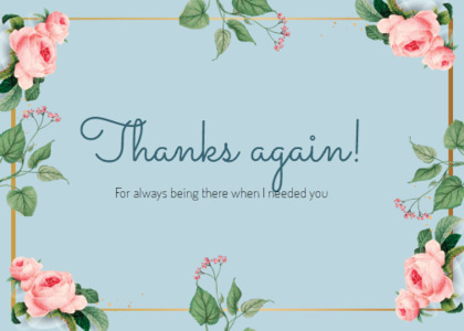 thankyou card 72 text plant