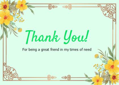 thankyou card 87 envelope floraldesign