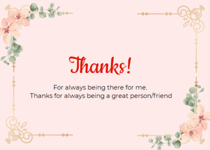 thankyou card 88 text plant