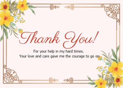 thankyou card 91 text floraldesign