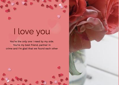 valentine card 106 petal plant