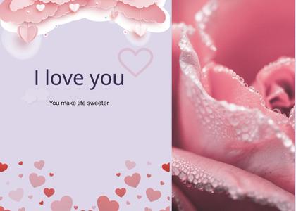valentine card 108 petal plant
