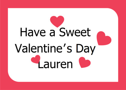 valentine card 11 text word