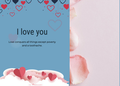 valentine card 113 paper flyer