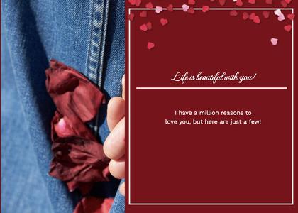 valentine card 116 flyer brochure