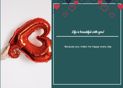 valentine card 120 text paper