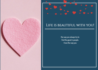 valentine card 123 heart paper