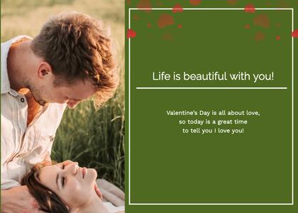 valentine card 128 person grass