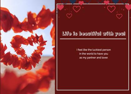 valentine card 134 plant petal