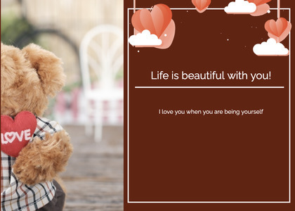 valentine card 136 teddybear toy