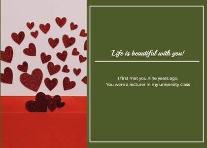 valentine card 139 paper advertisement