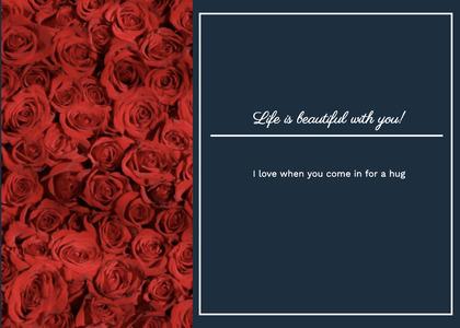 valentine card 145 maroon rug
