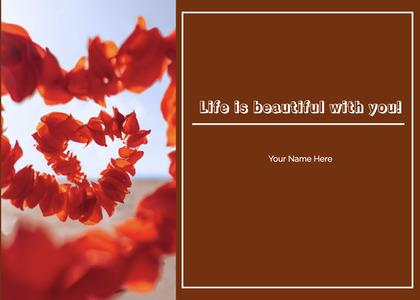 valentine card 149 plant petal