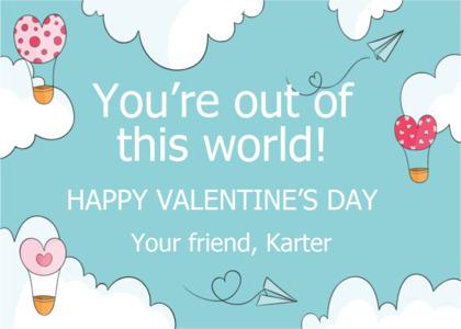 valentine card 15 text flyer