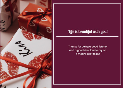 valentine card 151 gift text