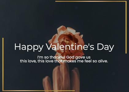 valentine card 171 hand worship