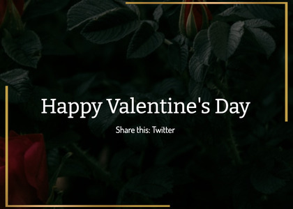 valentine card 175 plant vegetation
