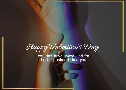 valentine card 188 hand person