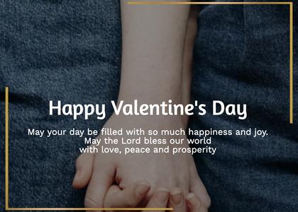 valentine card 189 hand heel