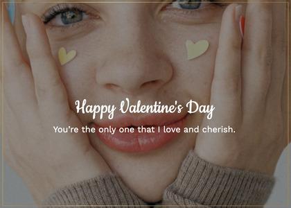 valentine card 191 face person