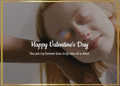 valentine card 194 face person