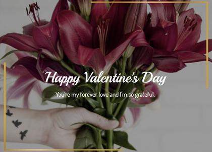 valentine card 201 plant flowerbouquet