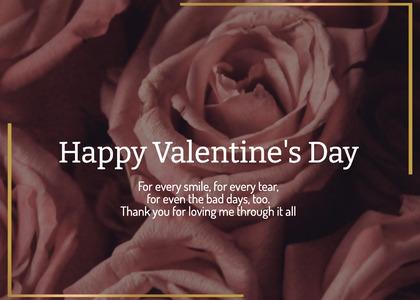 valentine card 213 rose plant