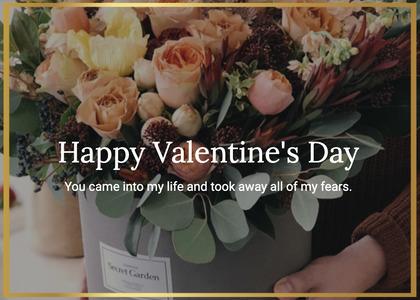 valentine card 214 plant rose