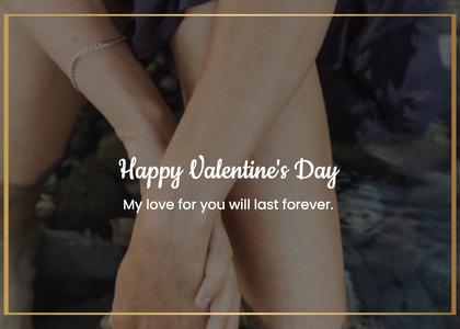 valentine card 218 hand heel