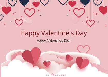 valentine card 222 paper text