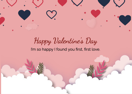 valentine card 223 text paper