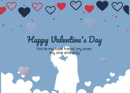 valentine card 225 text paper