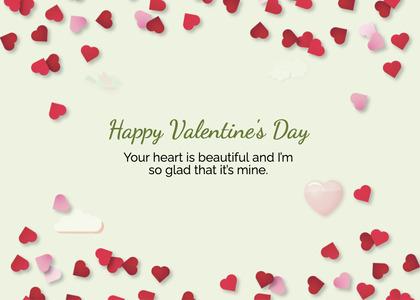valentine card 227 petal plant